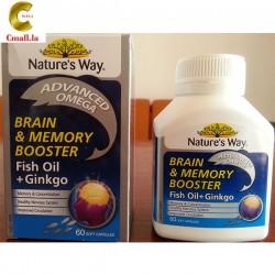 ຢາບຳລຸງສະໝອງເພີ່ມຄວາມຈື່ຈຳ Nature's Way Brain & Memory Booster