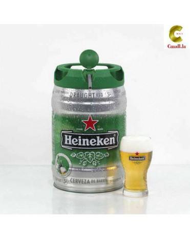 Heineken ແບບເປັນຖັງ 1ແກັດ ມີ 2ຖັງ ຂະໜາດ 5 ລິດ