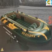 ເຮືອຢາງສູບລົມ ຫຍີ້ຫໍ້ Intex ຮຸ່ນ Seahawk 4 ຂະໜາດ 3,51m x 1,45m x 48cm  ຮັບນໍ້າໜັກໄດ້ 400kg