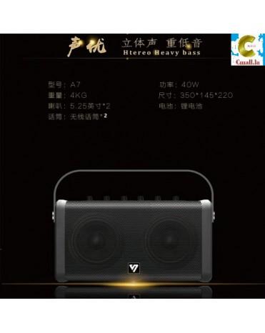 ລໍາໂພງ ບລູທູດ ລຸ້ນ A7 Bluetooth Speaker You Sheng Stereo